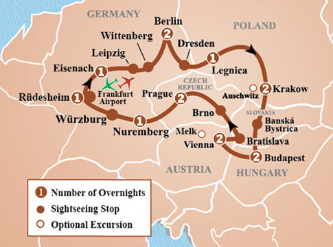 Capitals of Central Europe Tour - Itinerary Detail | Image Tours ...