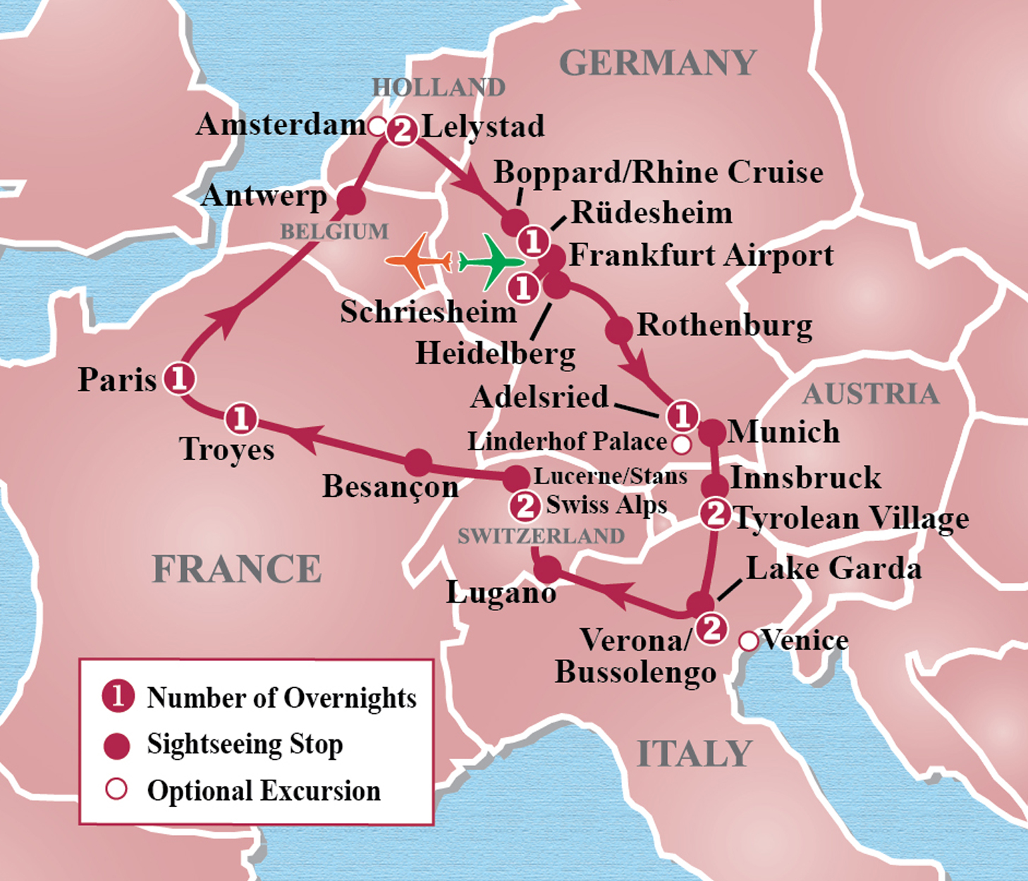 Heart of Europe Circle Tour Itinerary Detail Image Tours