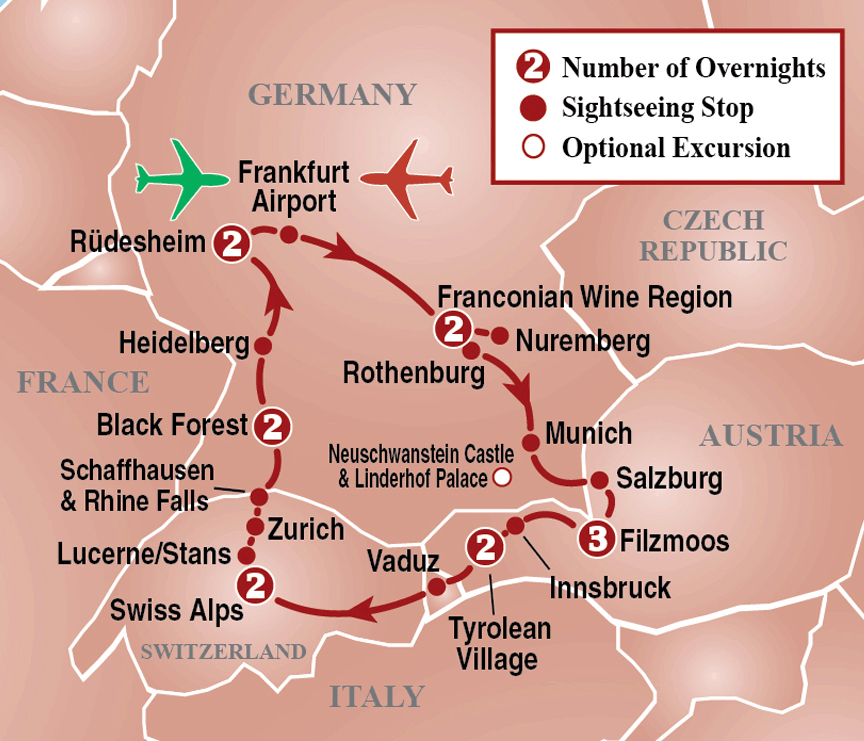 Germany, Austria & Switzerland Tour - Itinerary Detail ...