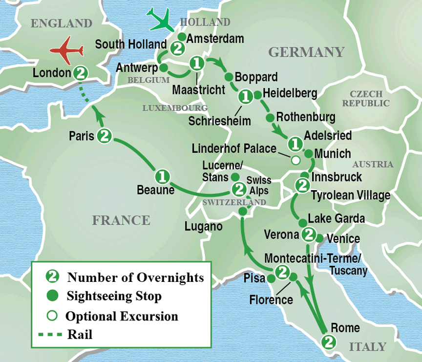 Heart of Europe® Grand Tour - Itinerary Detail | Image Tours ...