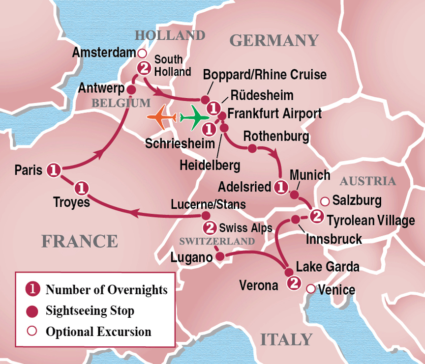 Heart of Europe® Circle Tour - Itinerary Detail | Image ...
