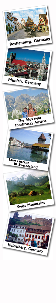Germany, Austria, Switzerland Tour Picture Collage