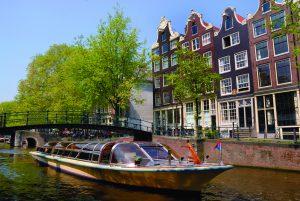Amsterdam Tour Boat - iStockPhoto.com